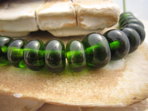 Custom Made Hand Made Recycled Wine Bottle Glass Beads