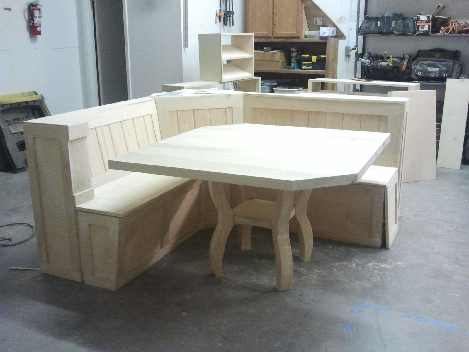 Custom Breakfast Nook With Maple Table By Baltic Woodsmith Custommade