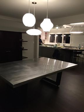 Custom Made Modern Zinc Dining Table