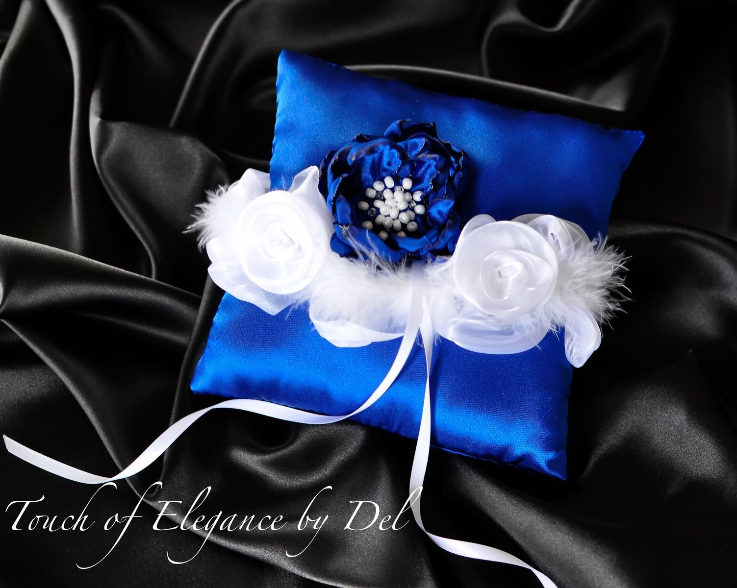 Custom Bridal Bouquet Ring Bearer Pillow Flower Girl Basket By