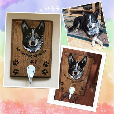 Custom Made Custom 1-Pack Dog Leash Hanger, Pet Portrait