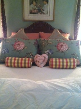 Custom Made Bedding, May Include Shams, Euro Pillows, Bolster, Bedskirt & Duvet.