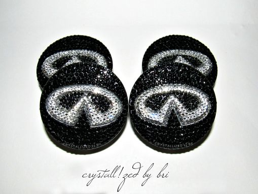 Custom Made Crystallized Car Wheel Center Caps Bling Made With Swarovski Crystals - Infiniti Ready To Ship