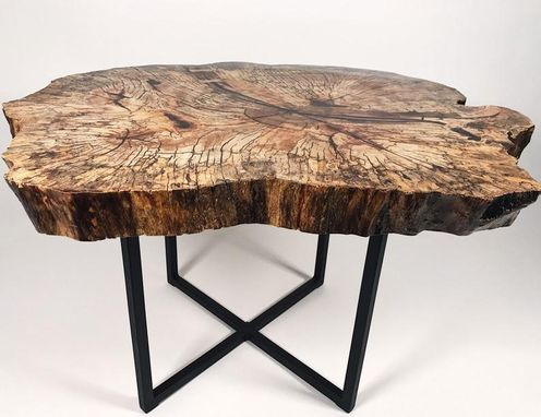 Custom Made Spalted Silver Maple Coffee Table