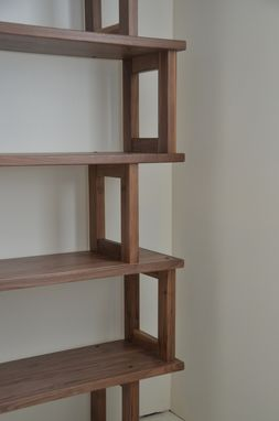 Custom Made Walnut Bookcase, Modern And Modular