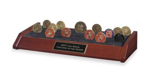 Custom Made Coin Display Cases, Coin Display, Military Coin Display