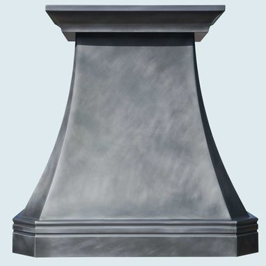 Custom Made Zinc Range Hood With Mont Saint Michel Band
