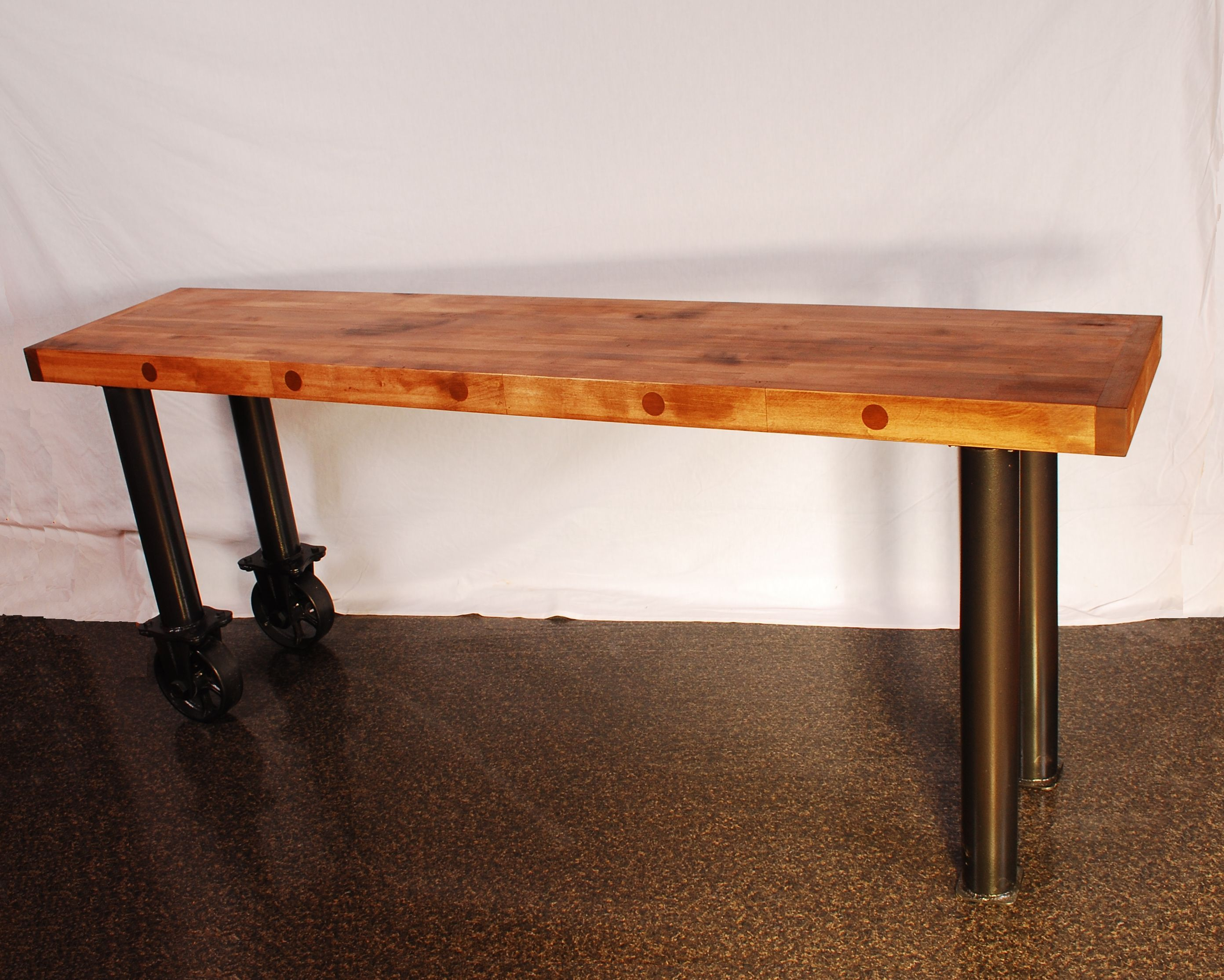 Hand Made Butcher Block Console Table by Larue Woodworking