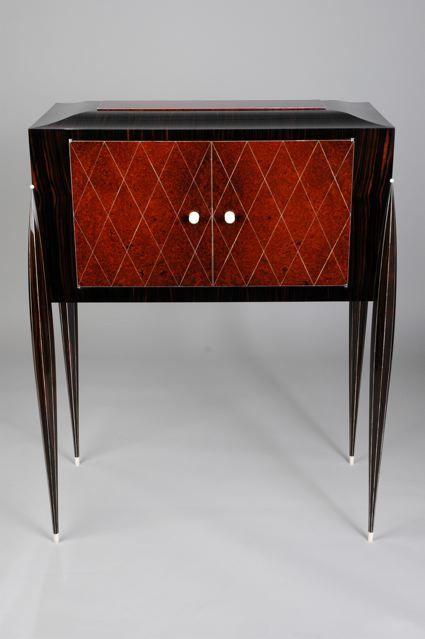 Hand Made Art Deco Liquor Cabinet By Aaron Radelow Custom