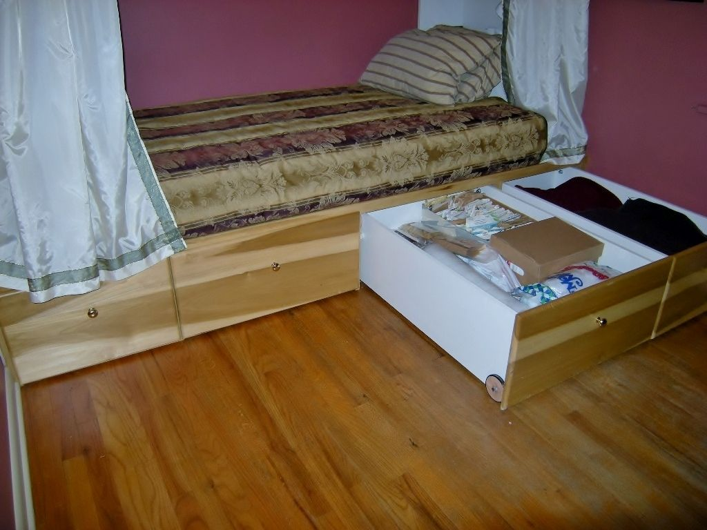 Custom Made Under Bed Storage Cabinet By Accent Products Company Custommade