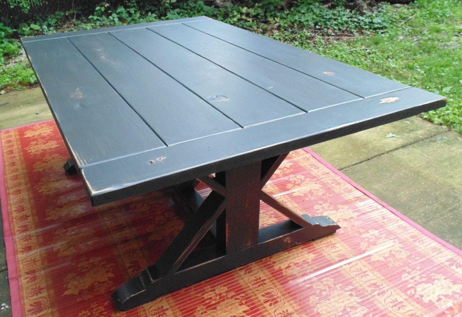 Handmade Reclaimed Wood Chevron-X Style Farmhouse Table by ...