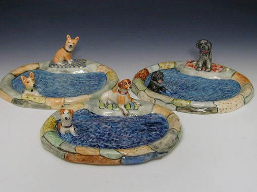 Custom Made Dogs At Pond Soap Dish