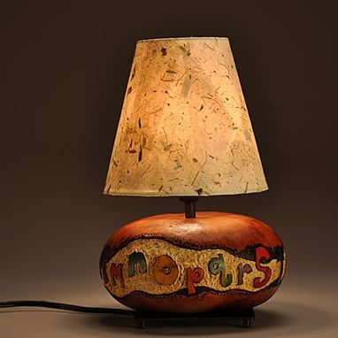 Custom Made Gourd Lamp Alphabet Design