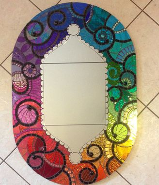 Custom Made Mosaic Stain Glass Mirror