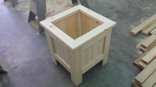 Custom Made 21″X21″X24″ Pine Planter Box Unfinished