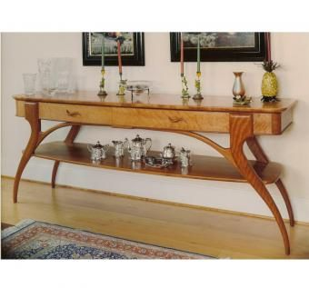 Custom Made Cherry Side Serving Table