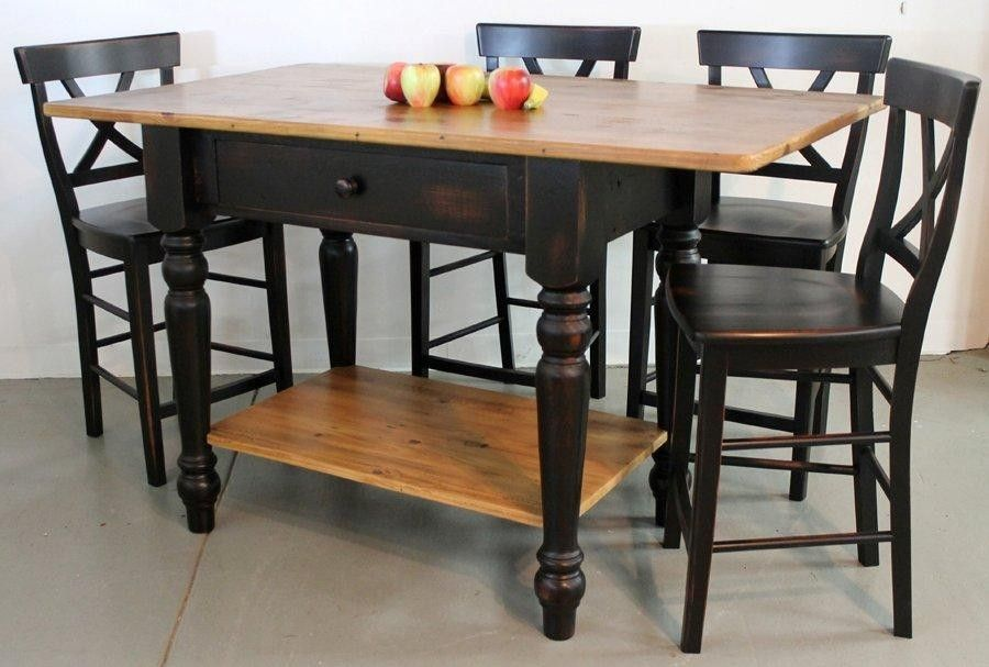 Hand Made Custom Barn Wood Kitchen Island With Open Base by ...