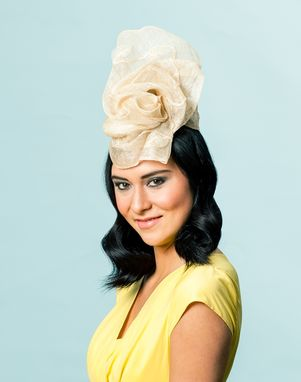 Custom Made Freeform Sinamay Cocktail Hat