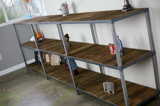 Custom Made Reclaimed Wood Bookcase. Custom Configurations Available. Rustic/Modern/Industrial (Shelving Unit)