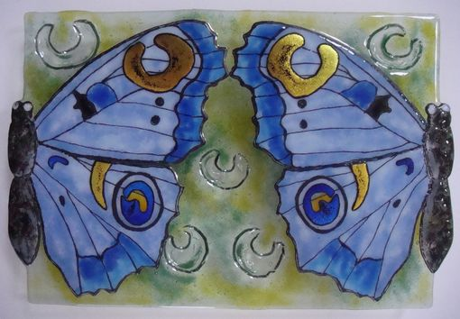 Custom Made Double Wings - Glass Fusing Artwork