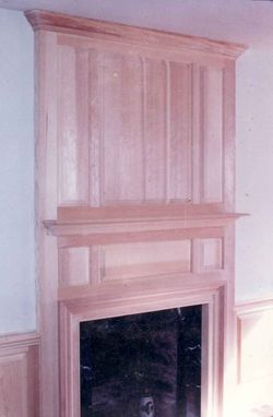 Custom Made Fireplace Mantle And Wainscoting