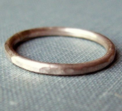 Custom Made Stackable Ring - Sterling Silver - Single
