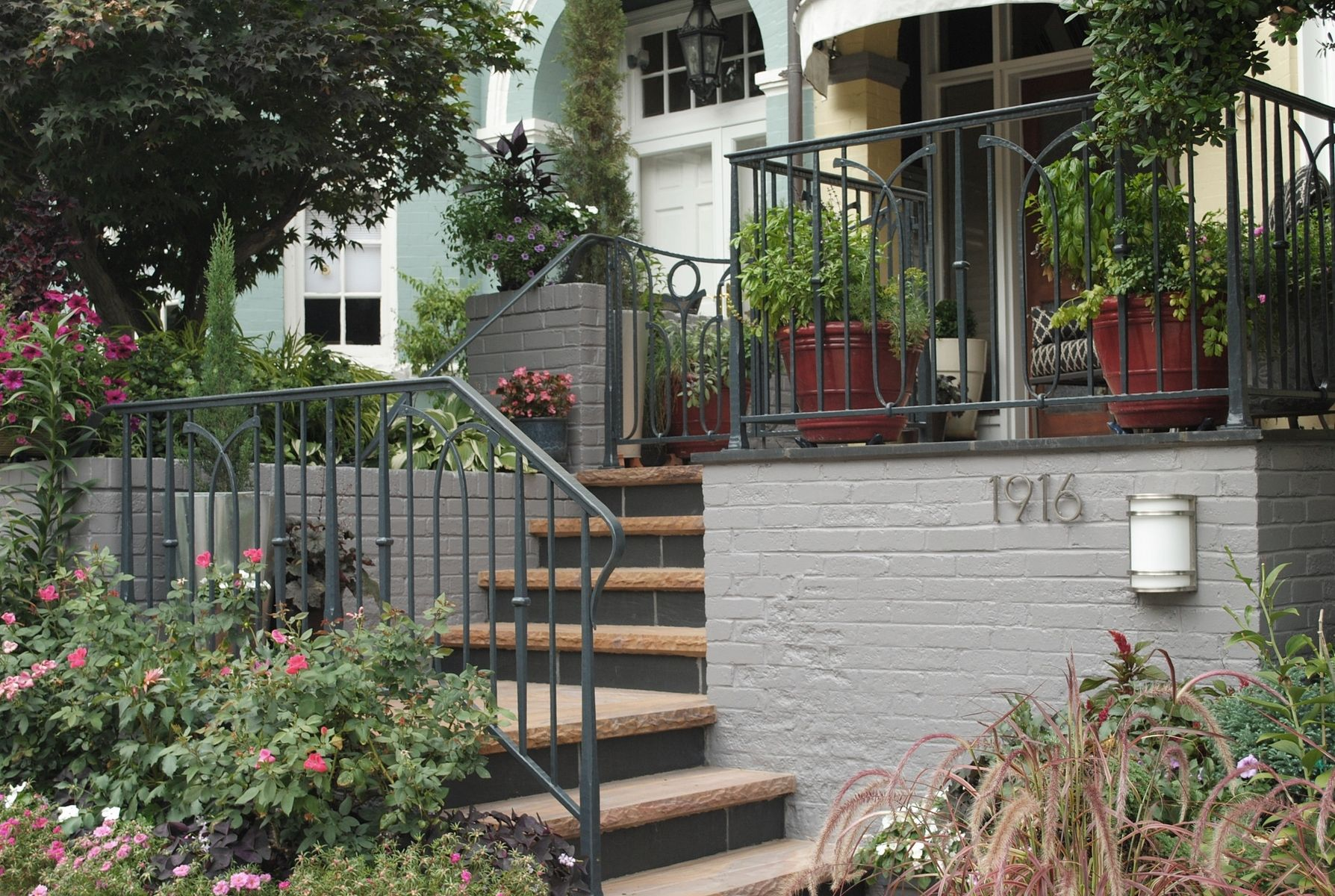 Handmade Hand Forged Porch Railing And Gate By Phoenix