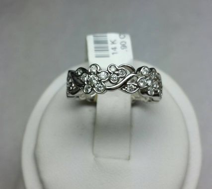 Custom Made Flower And Leafy Filigree Band