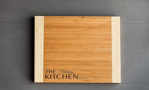 Custom Made Personalized Bamboo Cutting Board 11x14