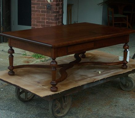 Custom Made Handcrafted Cherry William And Mary Coffee Table