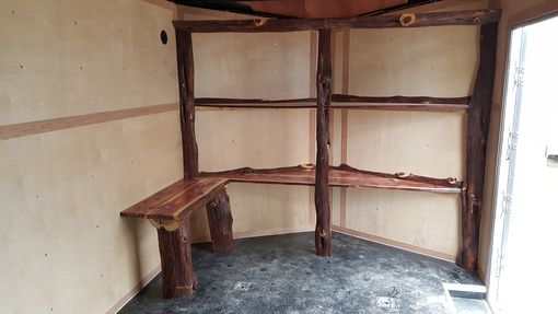 Custom Made Rustic Live Edge Cedar Shelving
