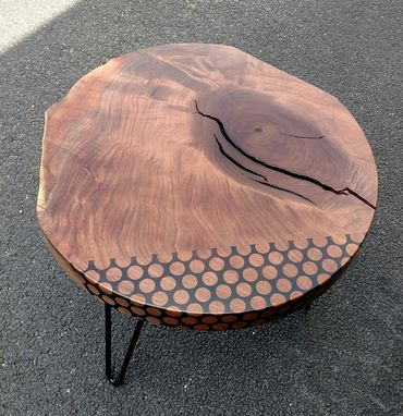 Custom Made (Sold) Live Edge Walnut End Table