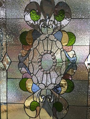 Custom Made Classic Teardrop & Jewels Stained Glass Windows