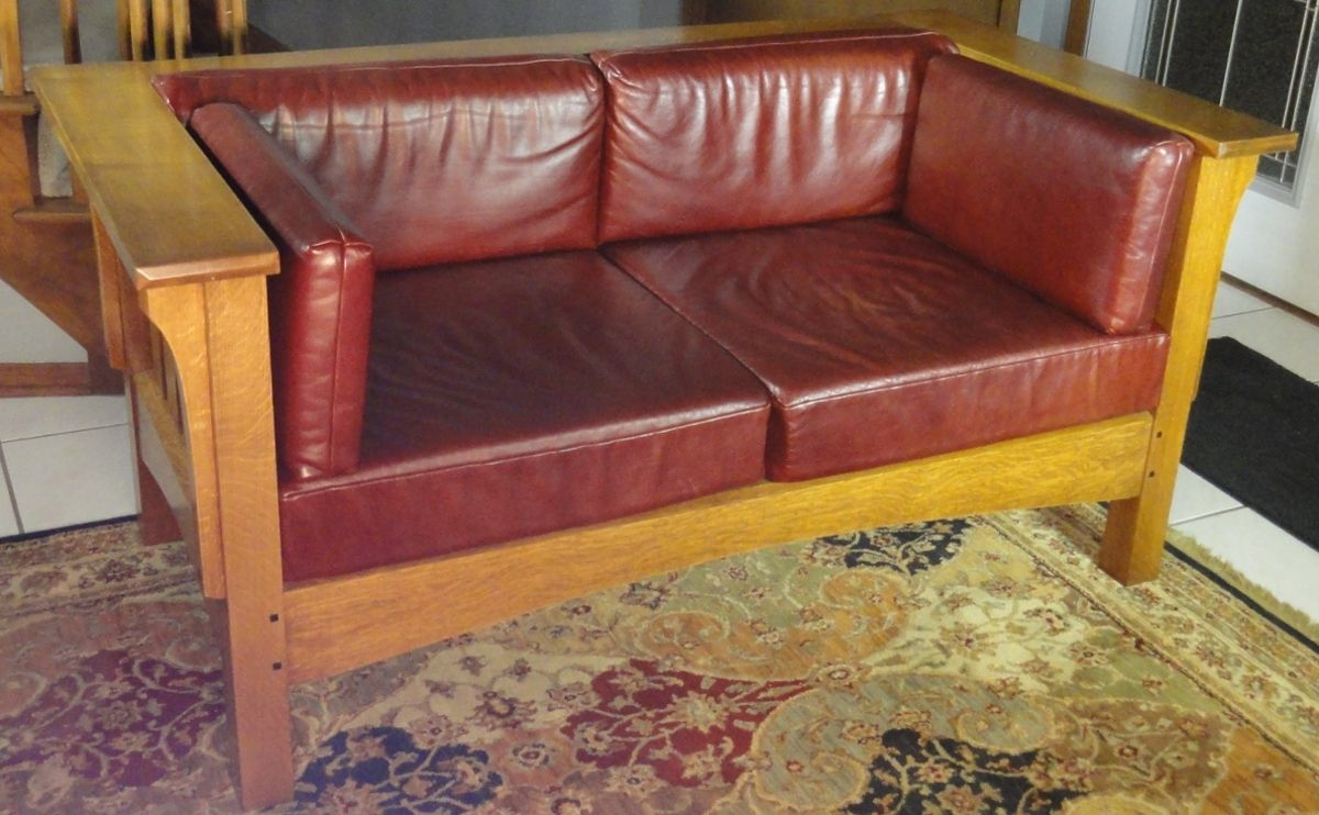 Handmade Prairie Style Settle By Mostly Mission Furniture