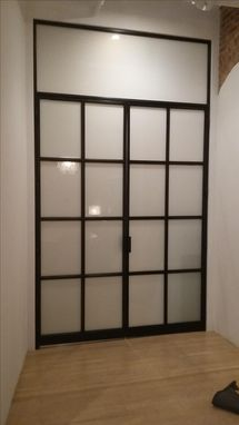 Custom Made Blackened Steel French Doors.