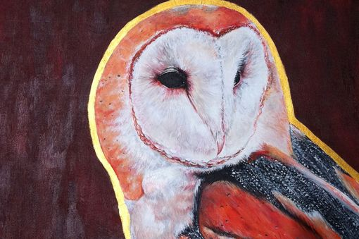 Custom Made Owl Acrylic Painting