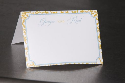 Custom Made Wedding Place Cards - Blank Personalized Formal Pattern - Escort Cards Custom Designed