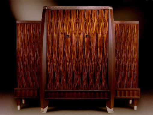 Custom Made Macassar Ebony Media Center