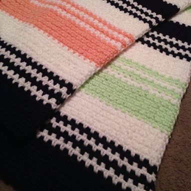 Custom Made Babylove Brand Bold Stripe Blanket