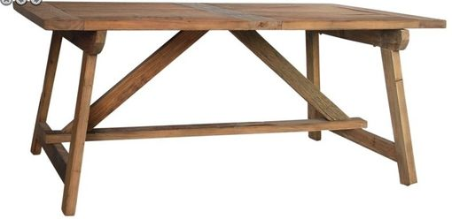 Custom Made Old Wood Sawhorse Dining Table