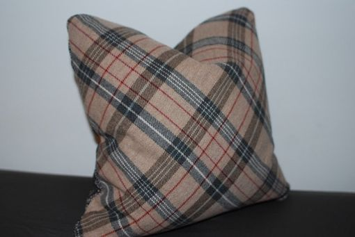 Custom Made 16x16 Upcycled Vintage Menswear Jacket Pillow Cover