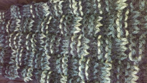 Custom Made Blue Jean Basket Weave Knitted Scarf For Men And Women