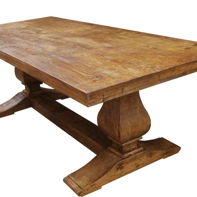 Hand Made Segovia Reclaimed Wood Trestle Dining Table By Mortise Tenon Custom Furniture Custommade