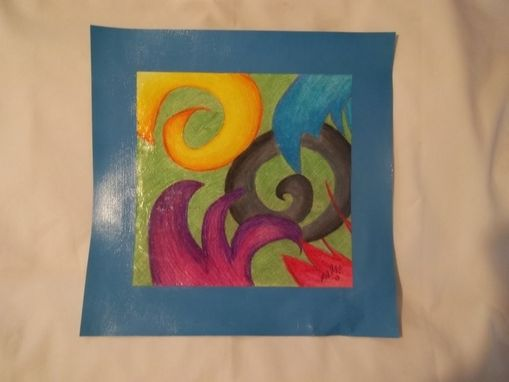 Custom Made Abstract Colored Pencil Drawing