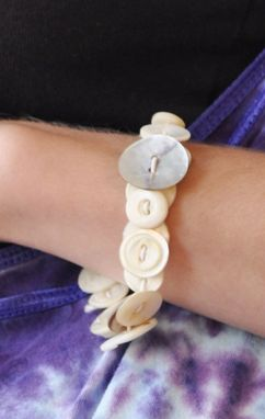 Custom Made Vintage Mother-Of-Pearl Button Bracelet