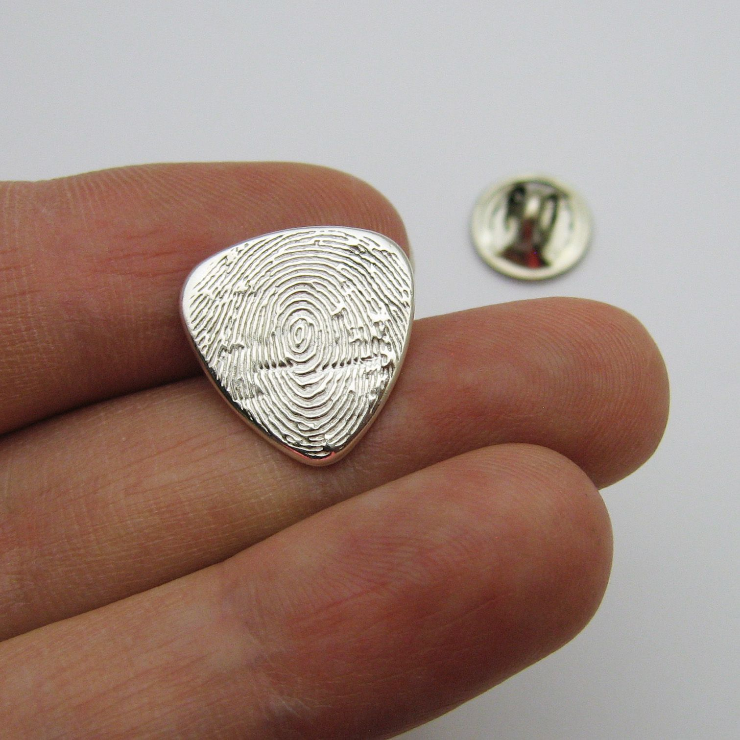 Unique Buy a Hand Crafted Fingerprint Guitar Pick Lapel Pin Or Tie Tack  MZ09