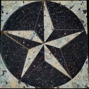 Custom Made Mosaic Texas Star Medallion - Flooring Or Backsplash