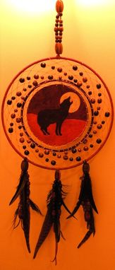 Custom Made Howling Wolf Dreamcatcher