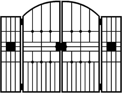 Custom Made Iron Gates, Artisan Made Courtyard Gate, Garden Gate, Artistic Gates