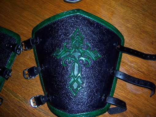 Custom Made Larger Double Celtic Knot Cross Bracers Deluxe